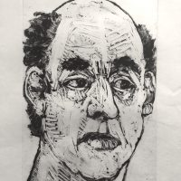 George Wallace - Charenton Revisited 7: Head of an Angry Man, 1991, monotype