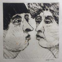 George Wallace - Whispering III, 1991, monotype