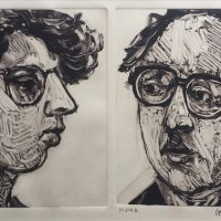 George Wallace - Man & Woman I, 1991, monotype