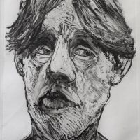 George Wallace - Young Man Looking Left, 1991, monotype