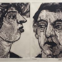 George Wallace - Man and Woman II, 1989, monotype