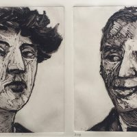 George Wallace - Man and Woman III, 1989, monotype