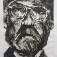 George Wallace - The Judge on Holiday, 1991, monotype