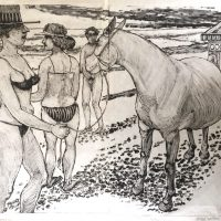 George Wallace - Pregnant Mare at the Beach I, 1991, monotype