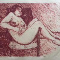 George Wallace - Woman Asleep, 1991, monotype