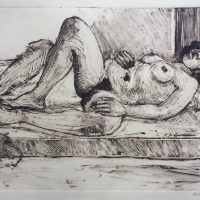 George Wallace - Woman Reclining, 1991, monotype