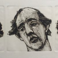 George Wallace - Three Heads, 1991, monotype