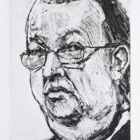 George Wallace - Big Businessman, 1992, monotype
