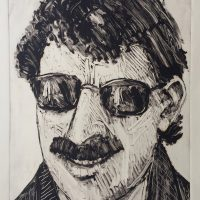 George Wallace - Salesman, 1992, monotype