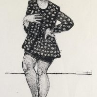 George Wallace - School for Models, 1992, monotype