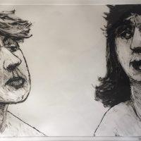 George Wallace - Brief Encounter II, 1992, monotype