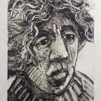 George Wallace - Distraught Woman, 1992, monotype