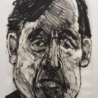 George Wallace - Businessman, 1993, monotype