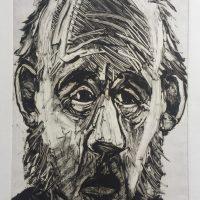George Wallace - Melancholy Man, 1993, monotype