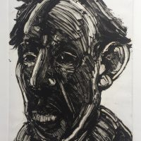 George Wallace - Man Against the Light, 1993, monotype
