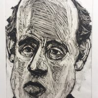 George Wallace - Balding Businessman, 1992, monotype