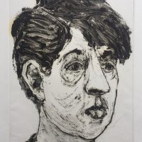 George Wallace - Young Woman, 1993, monotype
