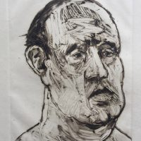 George Wallace - Head of a Man, 1994, monotype