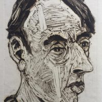 George Wallace - Man in a Striped Shirt, 1994, monotype