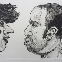 George Wallace - Confrontation (Agrassi), 1995, monotype