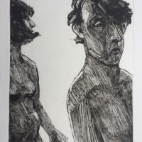 George Wallace - Man & Woman on a Beach, 1995, monotype