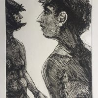George Wallace - Two Women on a Beach, 1995, monotype