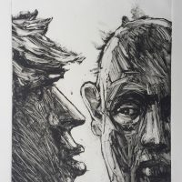 George Wallace - Couple, 1995, monotype