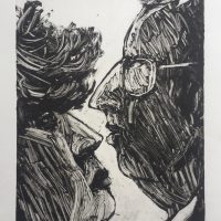 George Wallace - Disagreement, 1995, monotype