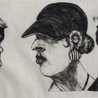 George Wallace - California (Heat Stroke), 1995, monotype