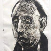 George Wallace - Market Falling, 1995, monotype