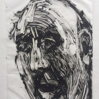 George Wallace - Fright, 1995, monotype
