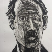 George Wallace - Head of a Man, 1995, monotype