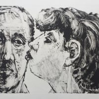 George Wallace - The Rejected Kiss, 1995, monotype