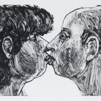 George Wallace - The Kiss, 1995, monotype