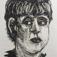 George Wallace - Woman with a Black Earring, 1995, monotype