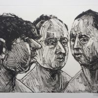 George Wallace - Trio, 1995, monotype
