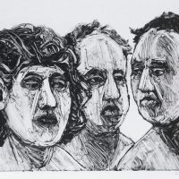 George Wallace - Trio #2, 1995, monotype