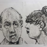 George Wallace - Couple, 1996, monotype