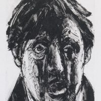 George Wallace - Head of a Crazy Man, 1996, monotype
