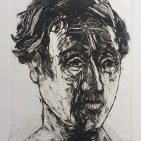 George Wallace - Head of a Young Man, 1996, monotype