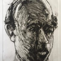 George Wallace - Head of a Man, 1996, monotype
