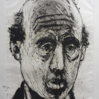 George Wallace - Head of a Man. 1996, monotype
