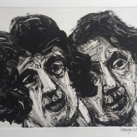 George Wallace - A Man and a Woman, 1996, monotype