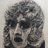 George Wallace - Woman with Sunglasses, 1996, monotype