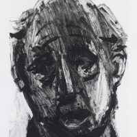 George Wallace - Falling, 1996, monotype