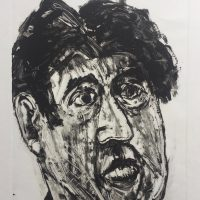 George Wallace - Distraught Man, 1996, monotype