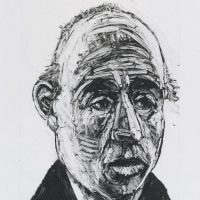 George Wallace - Businessman, 1996, monotype