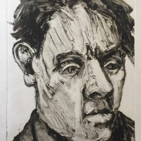 George Wallace - Head of a Man, 1999, monotype