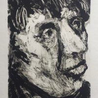 George Wallace - Head of a Man, 2000, monotype