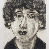 George Wallace - Woman with Curly Hair, 2002, monotype